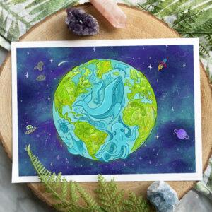 Dainty Planet Art print